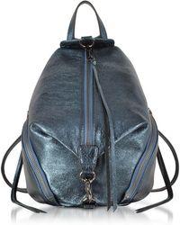 Rebecca Minkoff - Octavio Blue Laminated Leather Medium Julian Backpack - Lyst