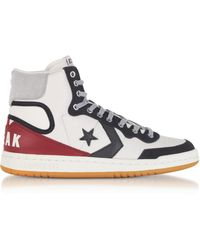 995a085874b Converse - Fastbreak Hi Light Gray And Storm Wind Leather High Top Men s  Sneakers - Lyst
