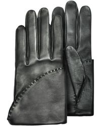 Pineider - Women's Black Short Nappa Gloves W/ Silk Lining - Lyst