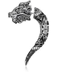 Thomas Sabo - Blackened Sterling Silver Earring W/cubic Zirconia - Lyst