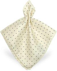 FORZIERI - Polkadot Twill Silk Pocket Square - Lyst