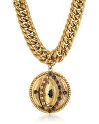 Roberto Cavalli - Antique Goldtone Metal Choker W/lucky Eye Coin Pendant - Lyst