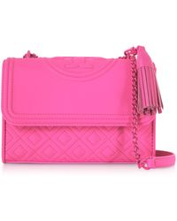 7ae1eb6c4cf4 Lyst - Tory Burch Fleming Convertible Quilted Leather Box Crossbody ...