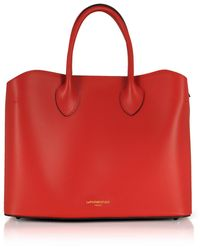 Le Parmentier Jackie Leather Tote Bag - Red
