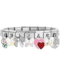 Nomination - Classic Sweet Charms Sterling Silver And Stainless Steel Bracelet - Lyst