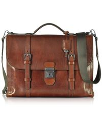 The Bridge - Byron Brown Leather Men's Briefcase - Lyst