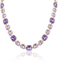 AZ Collection - Amethyst Crystal Necklace - Lyst