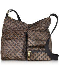 Gherardini - Signature Fabric Softy Shoulder Bag W/front Pockets - Lyst