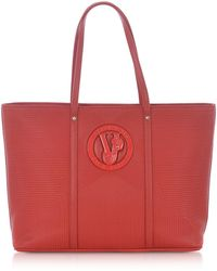 Versace Jeans M Dis. 2 Red Polyester Tote Bag