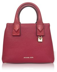 Michael Kors - Rollins Small Pebbled Leather Satchel - Lyst
