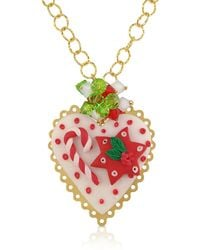 Dolci Gioie - Christmas Heart Necklace - Lyst