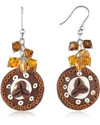 Dolci Gioie - Chocolate Cake Earrings - Lyst