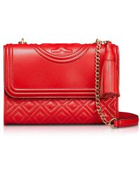 9cc92734d121 Tory Burch - Fleming Quilted Leather Small Convertible Shoulder Bag - Lyst
