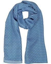 FORZIERI Small Herren Schal aus bedruckter Twillseide mit Paisleymuster - Blau