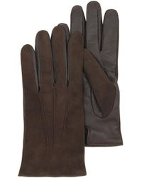 Forzieri | Brown Touch Screen Leather Men's Gloves | Lyst