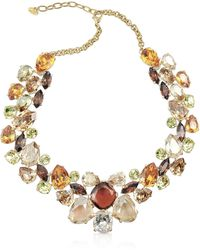 AZ Collection - Multicolor Crystal Necklace - Lyst