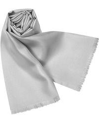 FORZIERI - Solid Silk Scarf - Lyst