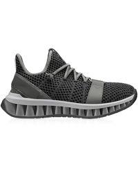Ermenegildo Zegna A-Maze Sneakers in Tessuto Techmerino Grigio