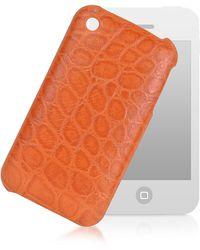Giorgio Fedon - Étui pour iPhone 3 en Cuir Imprimé Croco - Lyst