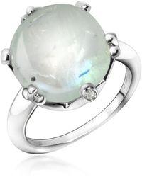 Mia & Beverly - Spectrolite And Diamond 18k Gold Ring - Lyst