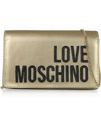 Love Moschino Signature Laminated Clutch - Multicolour