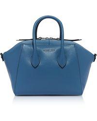 Coccinelle Gwen Medium Leather Satchel Bag - Blue