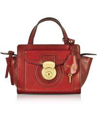 The Bridge Leather Handbag - Red