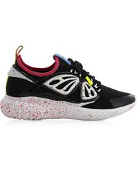 Sophia Webster Fly-By Black & White Synthetic Sneakers - Negro
