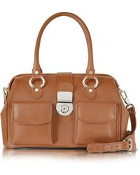 L.A.P.A. - Front Pocket Calf Leather Doctor-style Handbag - Lyst