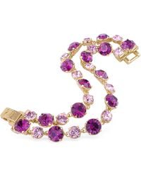 AZ Collection - Pink And Amethyst Gold Plated Bracelet - Lyst