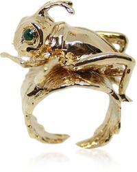 Bernard Delettrez Cricket Bronze Ring