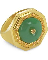 Sho London - Aventurine Clementina Ring - Lyst
