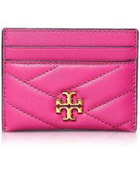 Tory Burch Gemini Link Canvas Zip Continental Wallet - Mettallic