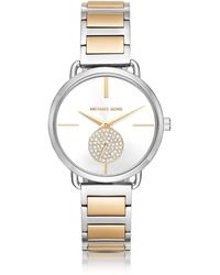 Michael Kors - Portia Two-tone Stainless Steel Women's Watch - Lyst