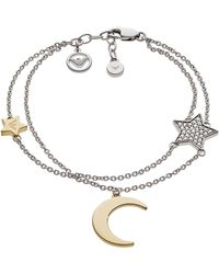 Emporio Armani Floating Moon Bracelet - Metallic