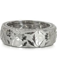 Azhar - Bassorilievo Silver And Zircon Men's Ring - Lyst
