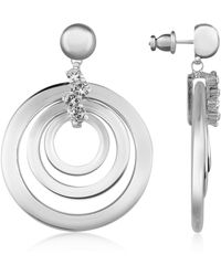 AZ Collection - Silver-plated Drop Earrings - Lyst