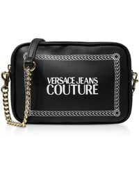Versace Jeans Black And White Signature Crossbody Bag