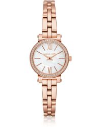 Michael Kors - Women's Sofie Rose Gold-tone Watch - Lyst