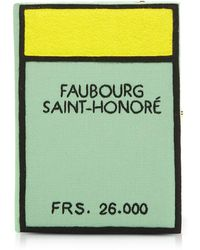 Olympia Le-Tan - Cotton And Wool Faubourg Saint Honore Book Clutch W/shoulder Strap - Lyst