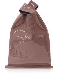 Jil Sander - Soft Patent Leather Market Bag - Lyst