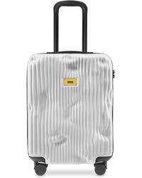 Crash Baggage Stripes Carry-On Trolley - Blanco