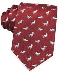 Marina D'este - White Duck Woven Silk Tie - Lyst