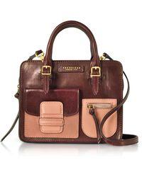 The Bridge - Burgundy Genuine Leather Mini Tote Bag - Lyst