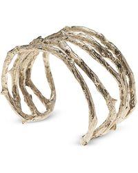 Bernard Delettrez - Bronze Thorny Cuff Bracelet - Lyst
