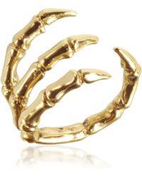 Bernard Delettrez Ring aus vergoldeter Bronze - Mettallic