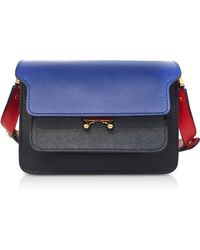 Marni - Bluette Black And Hot Red Leather Trunk Mini Shoulder Bag - Lyst