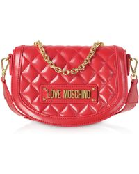 1d851cb5a7e2 Love Moschino - New Quilted Eco Leather Top Handle Crossbody - Lyst