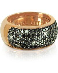 Azhar - Black Cubic Zirconia Silver Vermeil Ring - Lyst