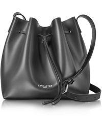 Lancaster Pur Smooth Leather Bucket Bag - Black
